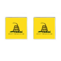 Gadsden Flag Don t Tread On Me Cufflinks (square) by MAGA
