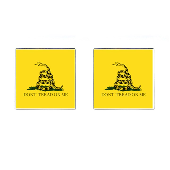 Gadsden Flag Don t tread on me Cufflinks (Square)