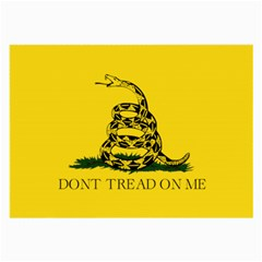 Gadsden Flag Don t Tread On Me Large Glasses Cloth (2 Side) by MAGA
