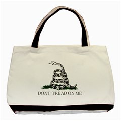 Gadsden Flag Don t Tread On Me Basic Tote Bag (two Sides) by snek