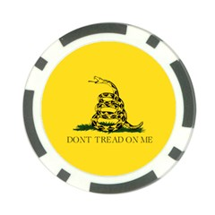Gadsden Flag Don t Tread On Me Poker Chip Card Guard by snek