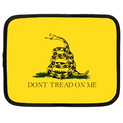 Gadsden Flag Don t Tread On Me Netbook Case (large) by snek