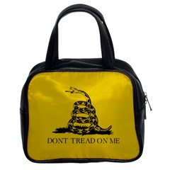 Gadsden Flag Don t Tread On Me Classic Handbags (2 Sides) by snek
