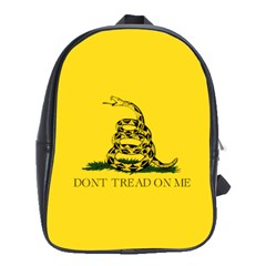 Gadsden Flag Don t Tread On Me School Bag (large) by snek