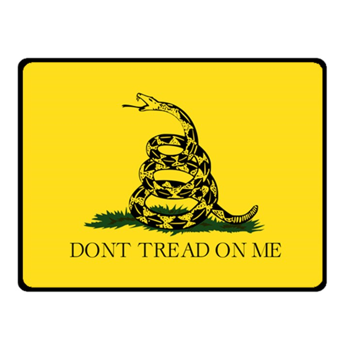 Gadsden Flag Don t tread on me Fleece Blanket (Small)