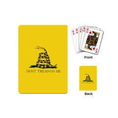 Gadsden Flag Don t Tread On Me Playing Cards (mini)  by MAGA