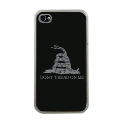 Gadsden Flag Don t Tread On Me Apple Iphone 4 Case (clear) by MAGA