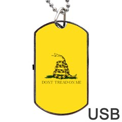 Gadsden Flag Don t Tread On Me Dog Tag Usb Flash (two Sides) by snek