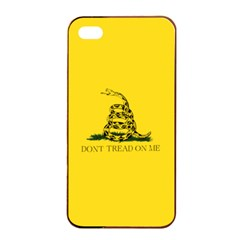 Gadsden Flag Don t Tread On Me Apple Iphone 4/4s Seamless Case (black) by MAGA