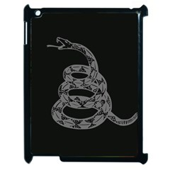 Gadsden Flag Don t Tread On Me Apple Ipad 2 Case (black) by MAGA