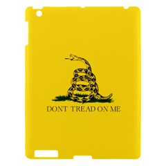 Gadsden Flag Don t Tread On Me Apple Ipad 3/4 Hardshell Case by MAGA