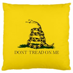 Gadsden Flag Don t Tread On Me Large Cushion Case (one Side) by snek