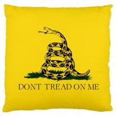Gadsden Flag Don t Tread On Me Large Cushion Case (two Sides) by snek