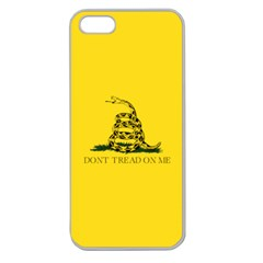 Gadsden Flag Don t Tread On Me Apple Seamless Iphone 5 Case (clear) by MAGA