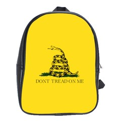 Gadsden Flag Don t Tread On Me School Bag (xl) by MAGA
