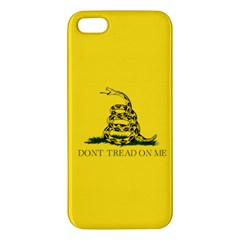 Gadsden Flag Don t Tread On Me Apple Iphone 5 Premium Hardshell Case by MAGA