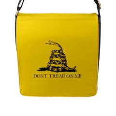 Gadsden Flag Don t Tread On Me Flap Messenger Bag (l)  by MAGA