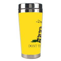 Gadsden Flag Don t Tread On Me Stainless Steel Travel Tumblers by MAGA