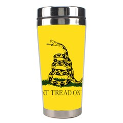 Gadsden Flag Don t Tread On Me Stainless Steel Travel Tumblers by snek