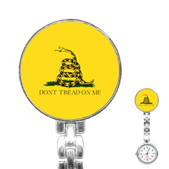 Gadsden Flag Don t Tread On Me Stainless Steel Nurses Watch by snek