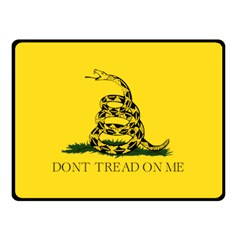 Gadsden Flag Don t Tread On Me Double Sided Fleece Blanket (small)  by MAGA