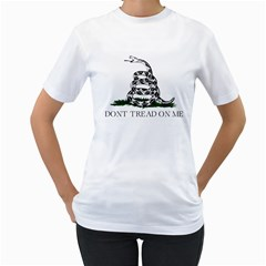 Gadsden Flag Don t Tread On Me Women s T-shirt (white)  by snek
