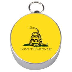 Gadsden Flag Don t Tread On Me Silver Compasses by MAGA