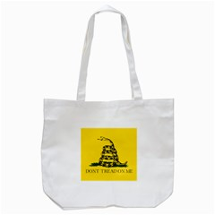 Gadsden Flag Don t Tread On Me Tote Bag (white) by snek