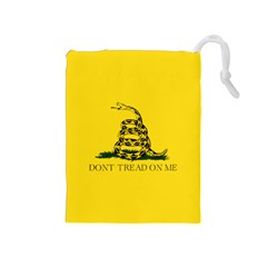 Gadsden Flag Don t Tread On Me Drawstring Pouches (medium)  by snek
