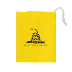 Gadsden Flag Don t Tread On Me Drawstring Pouches (large)  by snek