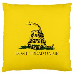 Gadsden Flag Don t Tread On Me Standard Flano Cushion Case (one Side) by snek