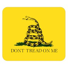 Gadsden Flag Don t Tread On Me Double Sided Flano Blanket (small)  by MAGA