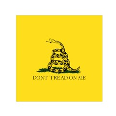 Gadsden Flag Don t Tread On Me Small Satin Scarf (square) by snek