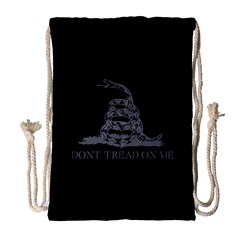 Gadsden Flag Don t Tread On Me Drawstring Bag (large) by MAGA