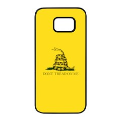 Gadsden Flag Don t Tread On Me Samsung Galaxy S7 Edge Black Seamless Case by snek