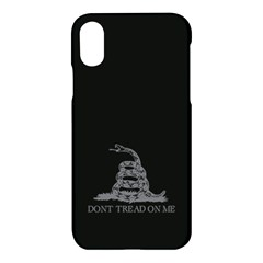Gadsden Flag Don t Tread On Me Apple Iphone X Hardshell Case by MAGA