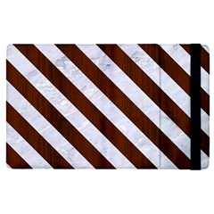 Stripes3 White Marble & Reddish Brown Wood Apple Ipad Pro 12 9   Flip Case by trendistuff