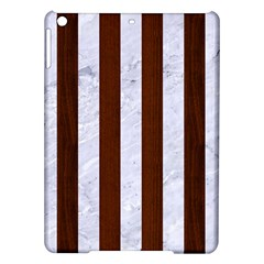 Stripes1 White Marble & Reddish Brown Wood Ipad Air Hardshell Cases by trendistuff