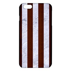 Stripes1 White Marble & Reddish Brown Wood Iphone 6 Plus/6s Plus Tpu Case by trendistuff