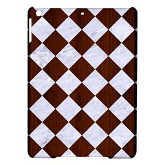 Square2 White Marble & Reddish Brown Wood Ipad Air Hardshell Cases by trendistuff