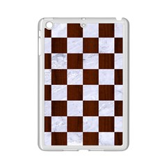 Square1 White Marble & Reddish Brown Wood Ipad Mini 2 Enamel Coated Cases by trendistuff