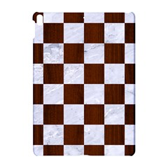 Square1 White Marble & Reddish Brown Wood Apple Ipad Pro 10 5   Hardshell Case by trendistuff