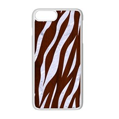 Skin3 White Marble & Reddish Brown Wood Apple Iphone 8 Plus Seamless Case (white) by trendistuff