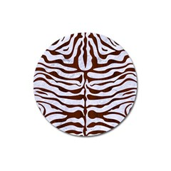 Skin2 White Marble & Reddish Brown Wood (r) Magnet 3  (round) by trendistuff