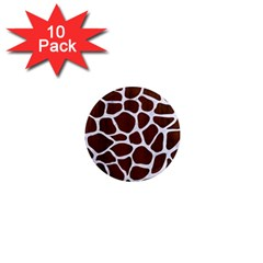 Skin1 White Marble & Reddish Brown Wood (r) 1  Mini Magnet (10 Pack)  by trendistuff