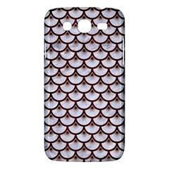 Scales3 White Marble & Reddish Brown Wood (r) Samsung Galaxy Mega 5 8 I9152 Hardshell Case  by trendistuff