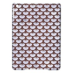 Scales3 White Marble & Reddish Brown Wood (r) Ipad Air Hardshell Cases by trendistuff