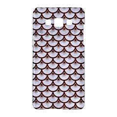 Scales3 White Marble & Reddish Brown Wood (r) Samsung Galaxy A5 Hardshell Case  by trendistuff