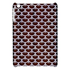 Scales3 White Marble & Reddish Brown Wood Apple Ipad Mini Hardshell Case by trendistuff