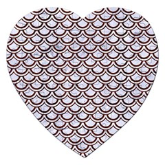 Scales2 White Marble & Reddish Brown Wood (r) Jigsaw Puzzle (heart) by trendistuff